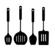 NYLON BLACK KITCHEN SET 4pk